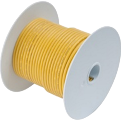 Wire, 100' #1/0 Tinned Copper, Yellow