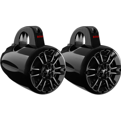 "Tower Speakers, 4"" 2-Way, 400W, Black"
