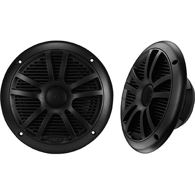 "Speakers, 6.5"" 2-Cone, 180 Watt, Black"