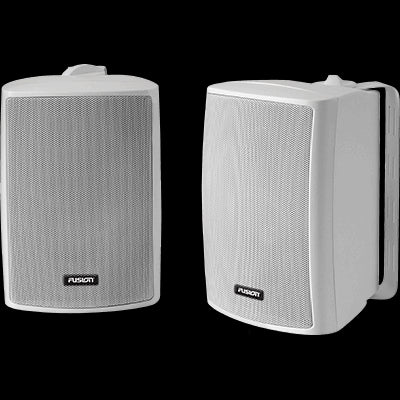 Compact Box Speaker, pair, white, 100W
