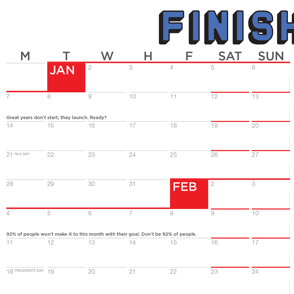 2019 finish year by jon acuff best calendar ever probably