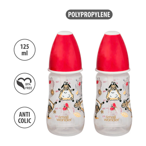 125ml Candy Feeding Bottle Red Pack Of 2 - Small Wonder