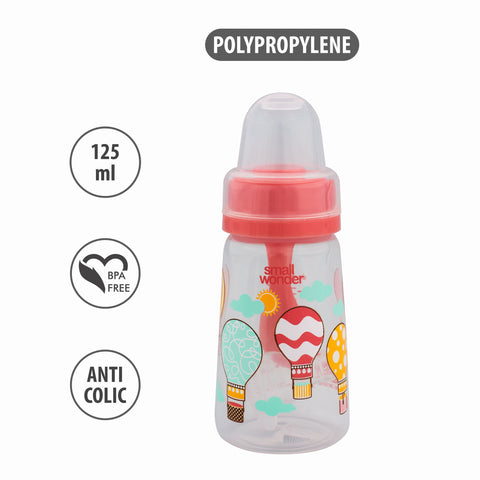 125ml Natural Feeding Bottle Pink - Small Wonder