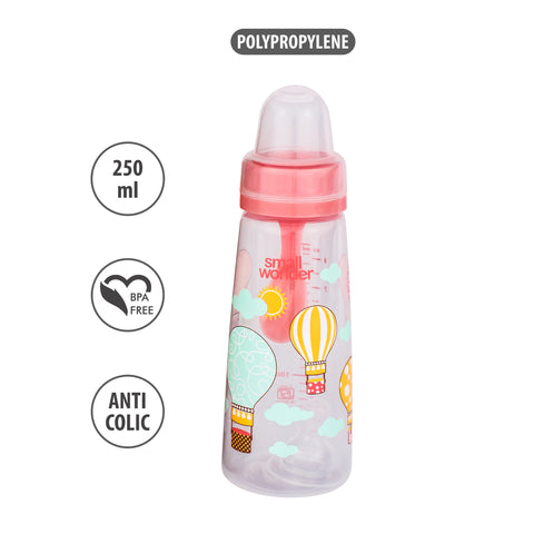 250ml Natural Feeding Bottle Pink - Small Wonder