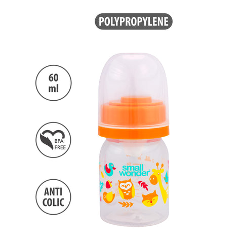 60ml Admire Feeding Bottle Orange - Small Wonder