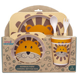 Bamboo Fibre Dining Set - Lion - Small Wonder