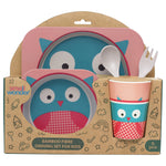 Bamboo Fibre Dining Set - Owl - Small Wonder