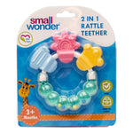 Rainbow Rattle Silicone Teether Green - Small Wonder