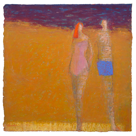 Original Artwork | Beach People | Painting by Ruth Hunter