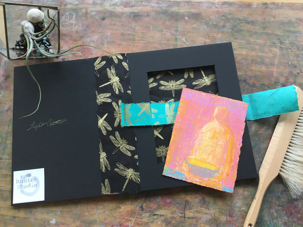 Handmade Chinese Craft Inspired Box with Light Catcher | Ruth Hunter Studio