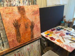 Original Artwork in Progress | Soul on Fire | Ruth Hunter Studio