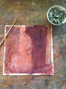 Painting in Progress by Ruth Hunter