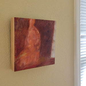 Original Artwork by Ruth Hunter | All-One | Painting on Birch Wood Panel | Natural Wood Profile