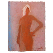 Load image into Gallery viewer, Original Artwork | Figurative Painting by Ruth Hunter | Bather | figure with towel