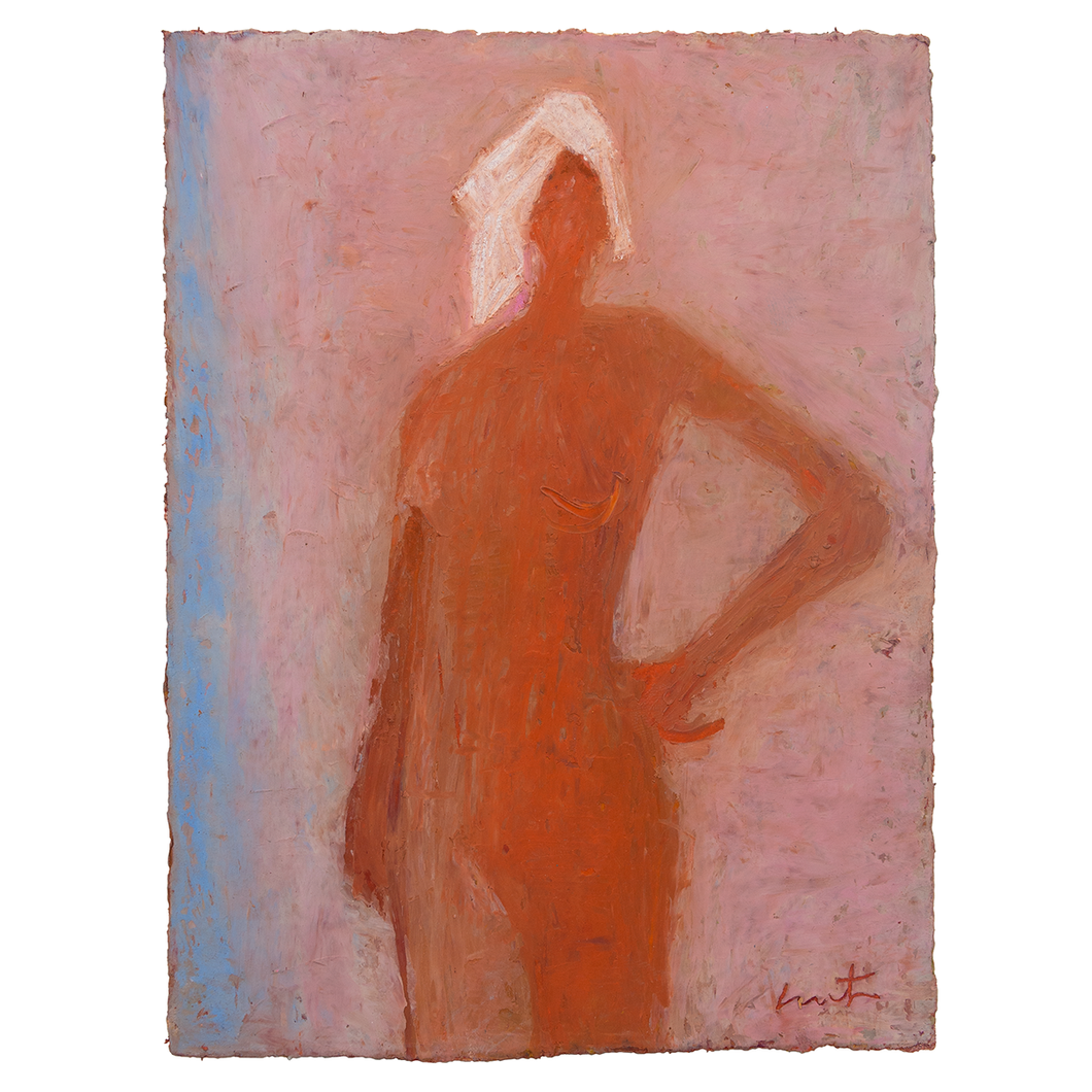 Original Artwork | Figurative Painting by Ruth Hunter | Bather | figure with towel