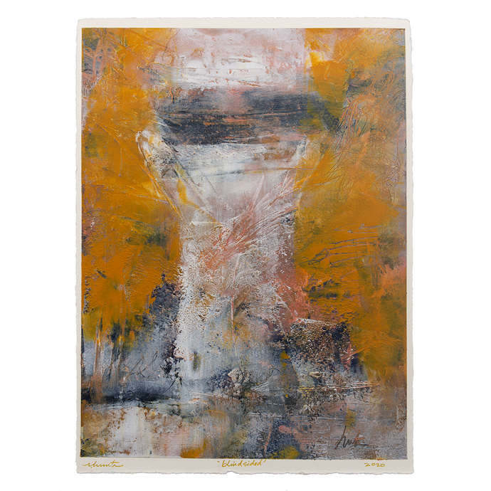 Original Artwork | Abstract Figurative Painting by Ruth Hunter | Blindsided | Contemporary Portrait