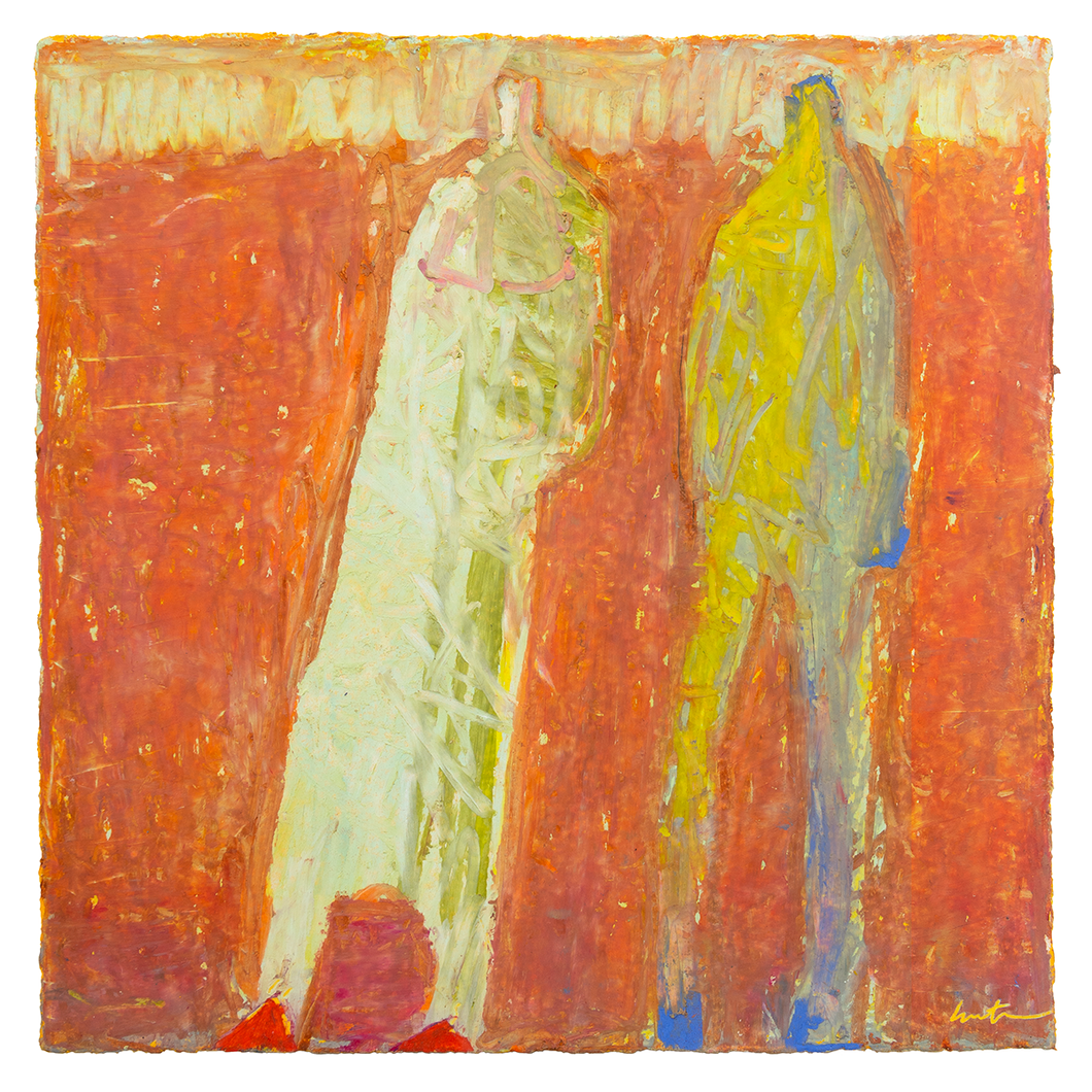 Original Artwork | Figurative Painting by Ruth Hunter | Change of Light | two figures in Abstract Landscape