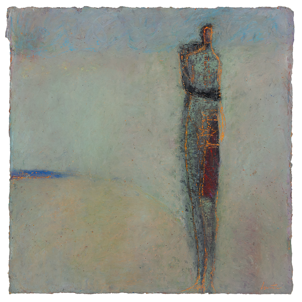 Original Artwork | Figurative Painting by Ruth Hunter | Coastal | figure in an Abstract Landscape