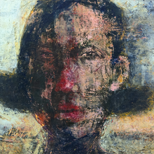Load image into Gallery viewer, Original Artwork | Figurative Painting by Ruth Hunter | Girl | Contemporary Abstract Portrait
