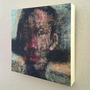 Original Painting on Birch Wood Panel by Ruth Hunter | Girl | Natural Wood Profile