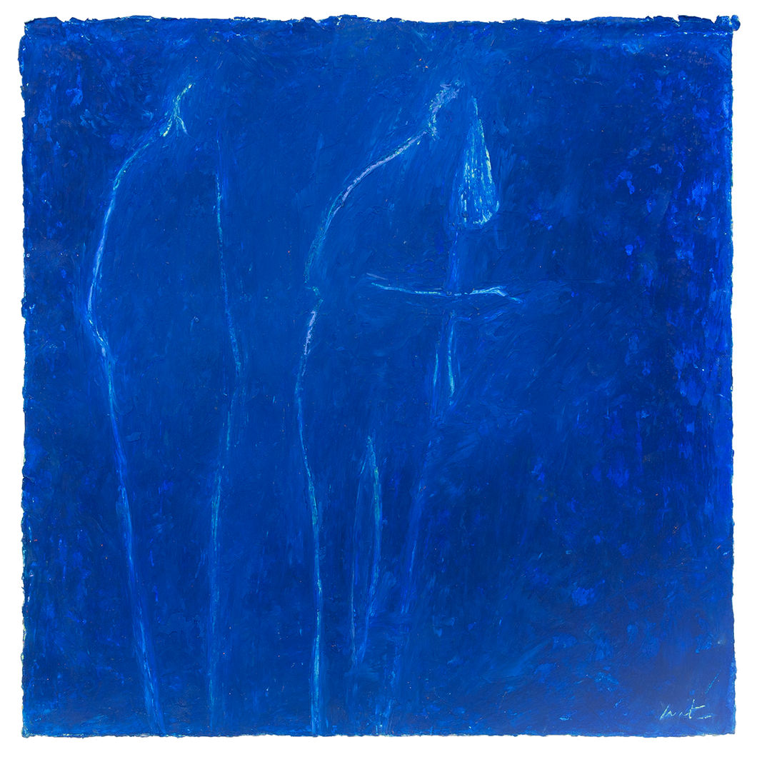 Original Artwork | Figurative Painting by Ruth Hunter | Indigo Summer | Minimal figures in blue