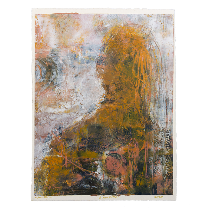Original Artwork | Abstract Figurative Painting by Ruth Hunter | Inner Echo | Contemporary Portrait