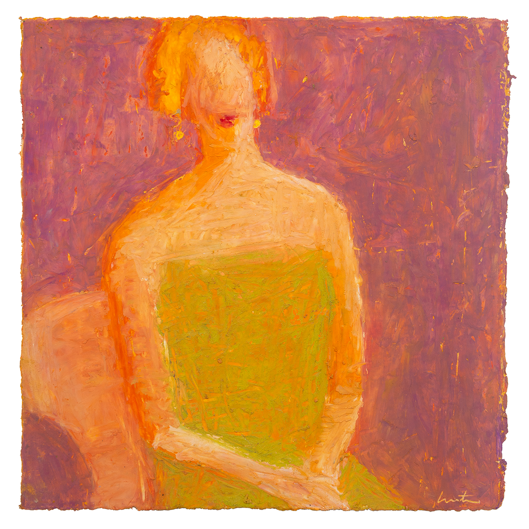 Original Artwork | Figurative Painting by Ruth Hunter | Lady Well Received | contemporary portrait