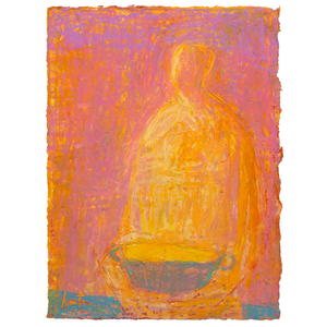 Original Artwork | Figurative Painting by Ruth Hunter | Light Catcher | figure with lighted basket
