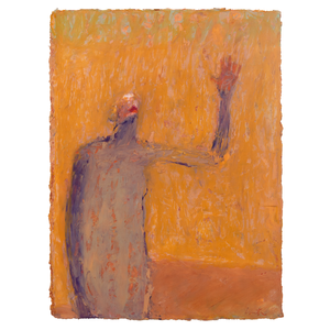 Original Artwork | Figurative Painting by Ruth Hunter | Oath | figure with hand raised