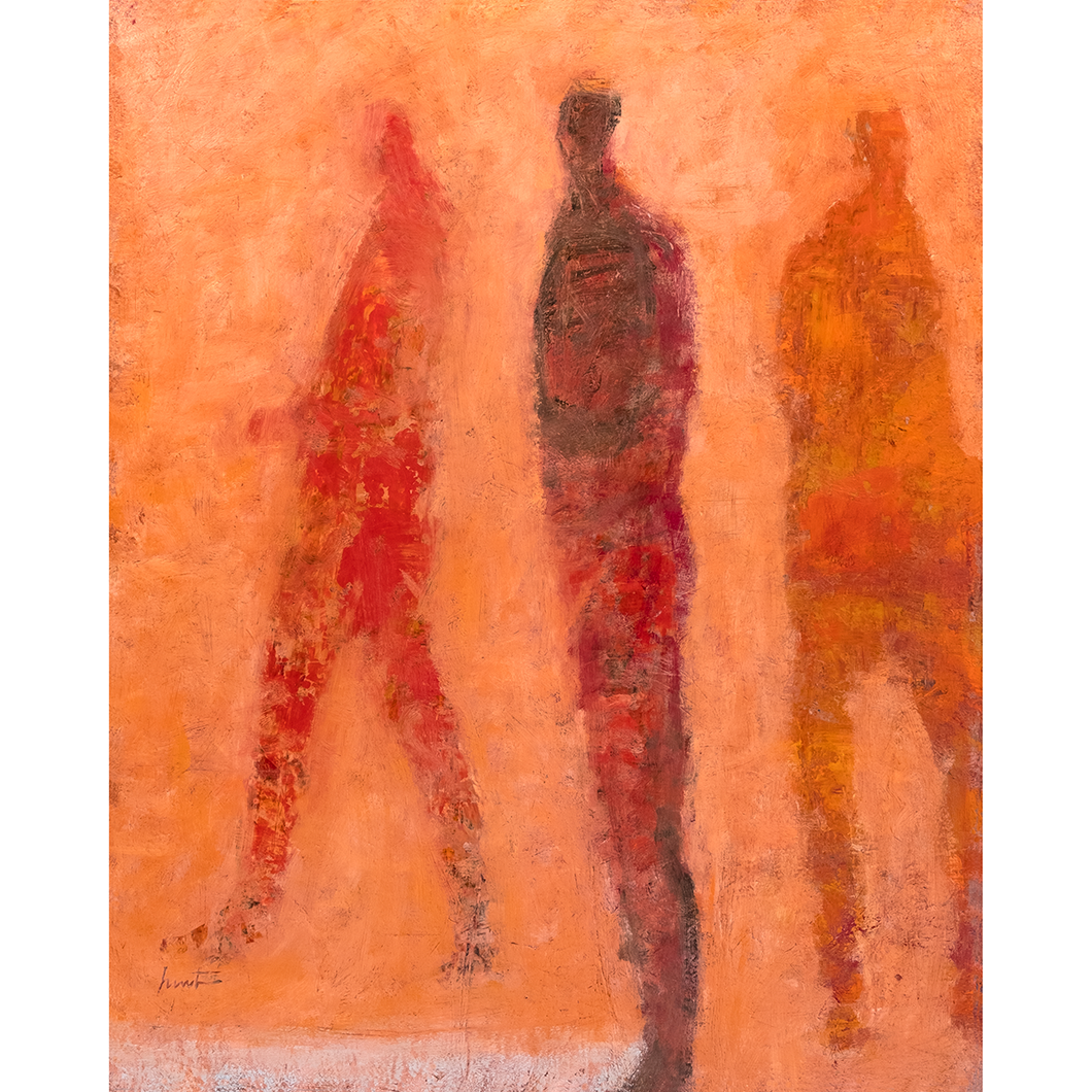 Original Artwork | Figurative Painting by Ruth Hunter | Fellowship | contemporary figures in an inner landscape