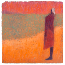 Load image into Gallery viewer, Original Artwork | Figurative Painting by Ruth Hunter | Rose Light | figure  on beach