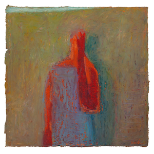 Original Artwork | Figurative Painting by Ruth Hunter | Shadow of Doubt | figure with shadow in contemplation
