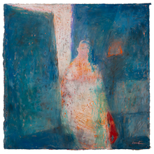 Load image into Gallery viewer, Original Artwork | Figurative Painting by Ruth Hunter | Sheer | ephemeral figure in interior