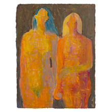 Load image into Gallery viewer, Original Artwork | Figurative Painting by Ruth Hunter | Sisters | two figures holding hands