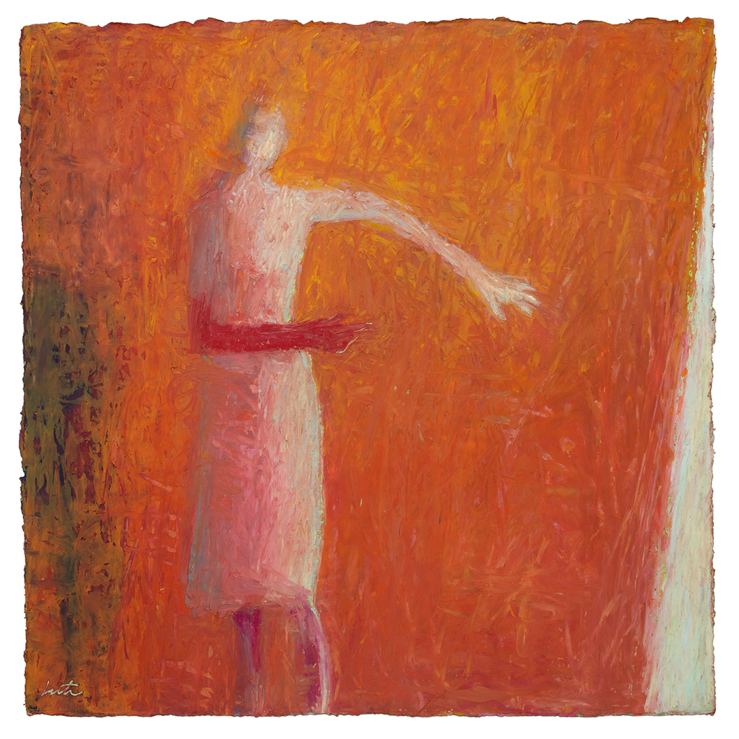 Original Artwork | Figurative Painting by Ruth Hunter | Sleepwalk | abstract figure in interior