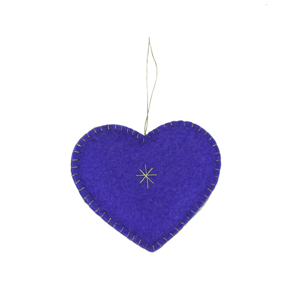 Heart Felted Ornament - Purple