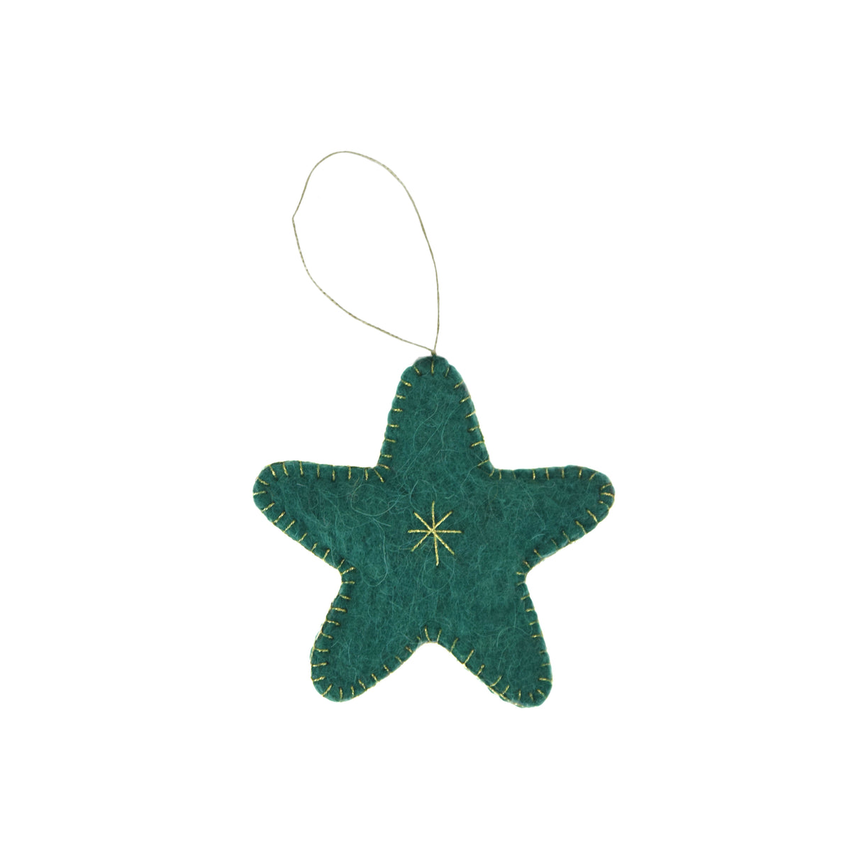 Star Felted Ornament
