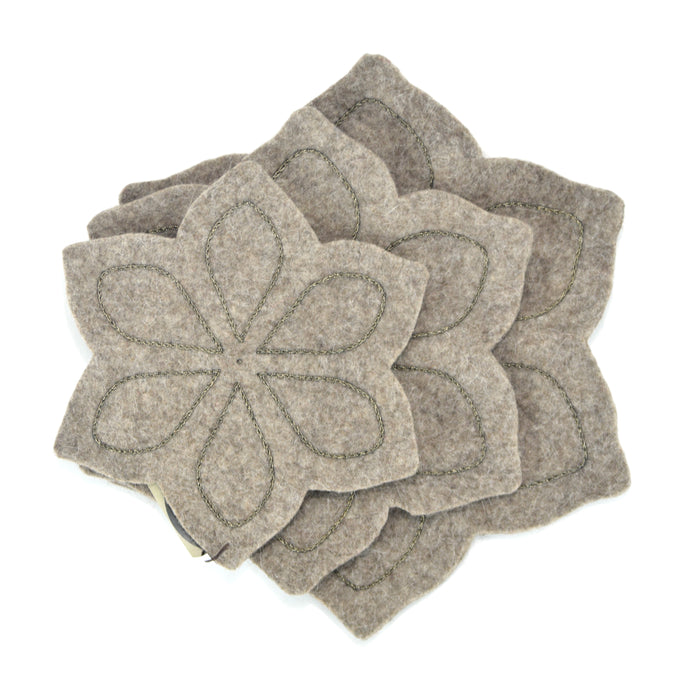 Chloe Felted Coaster Set - Grey