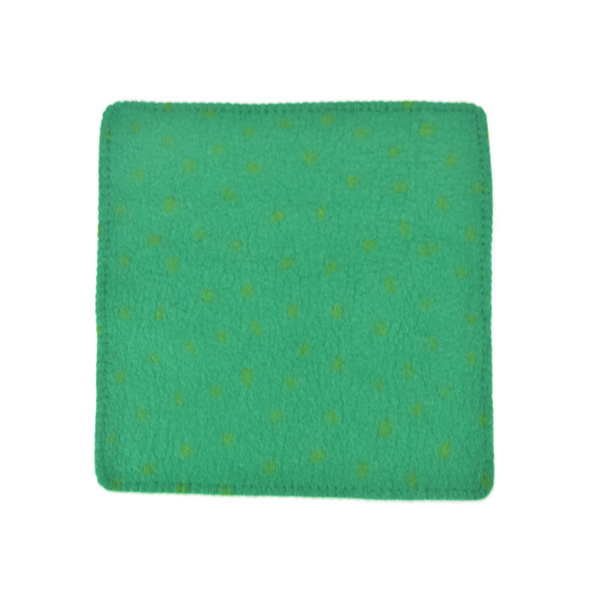 Hug Felted Polkadot Cushion Cover - Green
