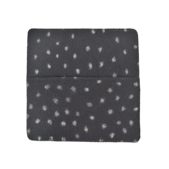 Hug Felted Polkadot Cushion Cover - Black