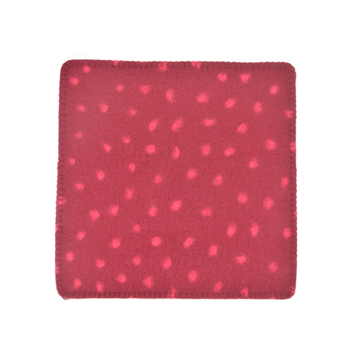 Hug Felted Polkadot Cushion Cover - Red