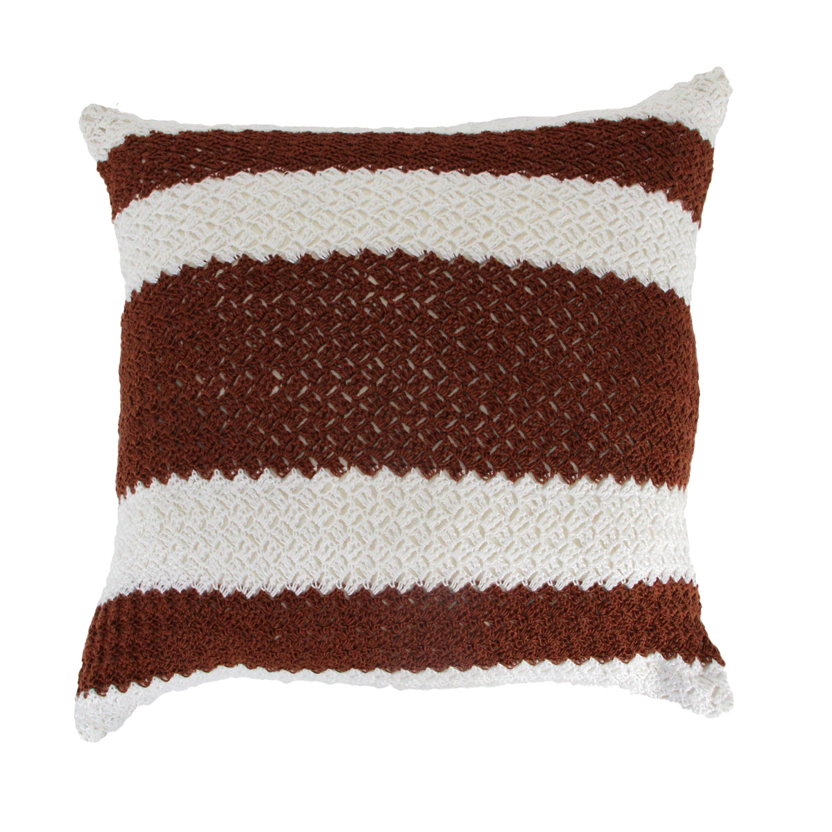 Hug Crochet Stripe Cushion Cover