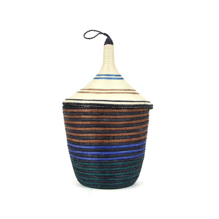 Ruth Woven Basket with Lid