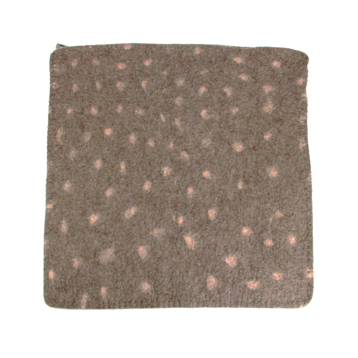 Hug Felted Polkadot Cushion Cover - Brown