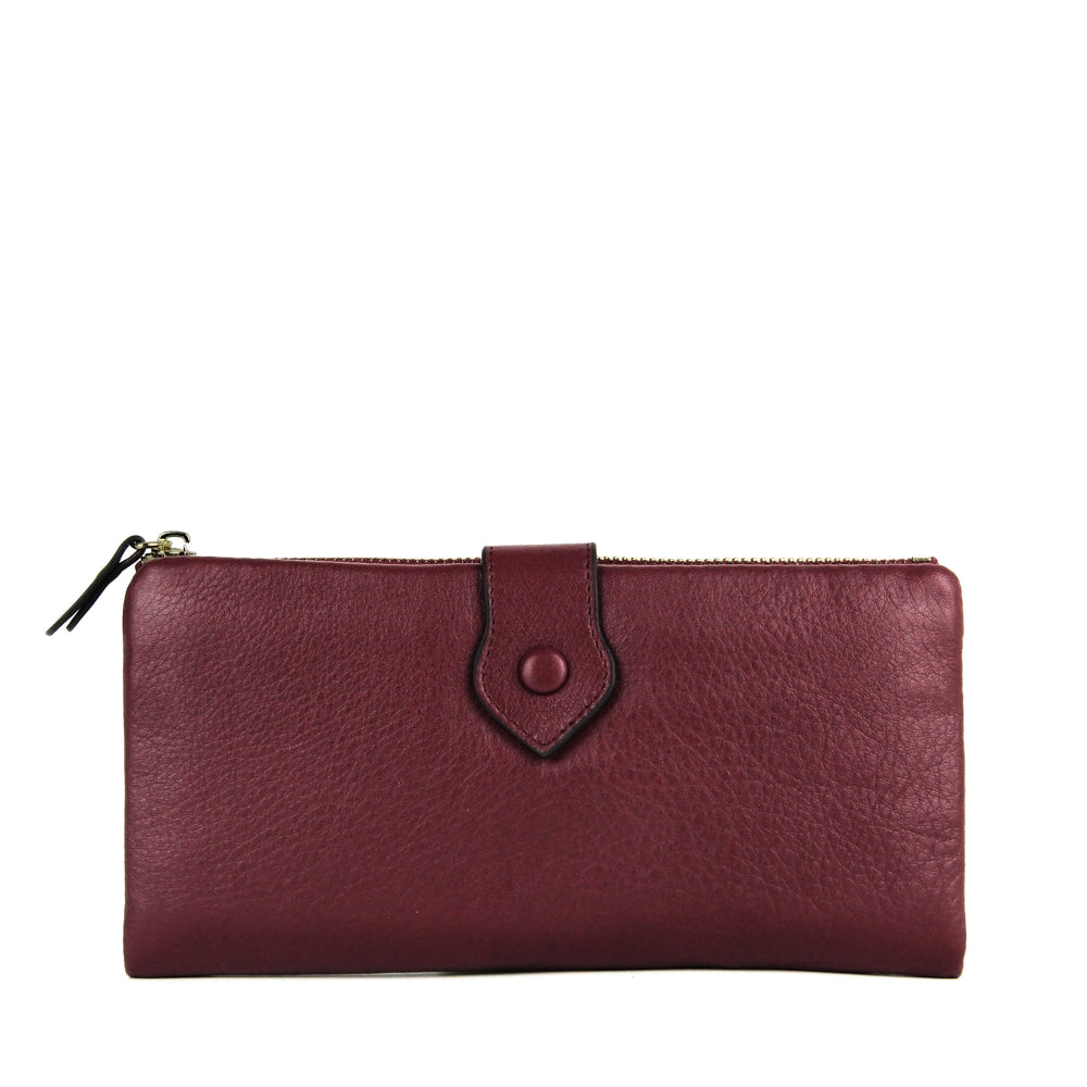 JANE SHILTON- RUBY- LONG WALLET W/ TAB