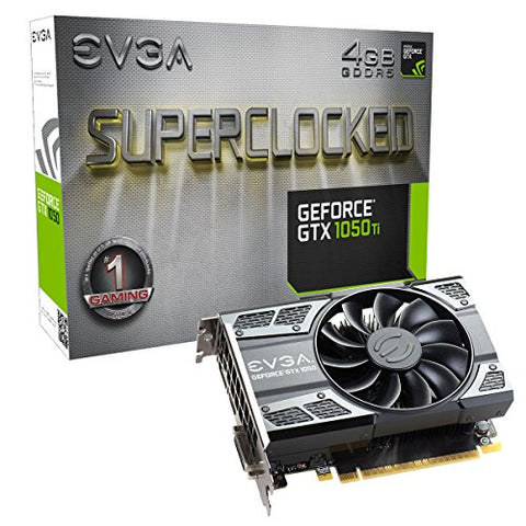 EVGA GeForce GTX 1050 Ti SC Gaming, 4GB GDDR5, DX12 OSD Support (PXOC) Graphics Card 04G-P4-6253-KR: Computers & Accessories