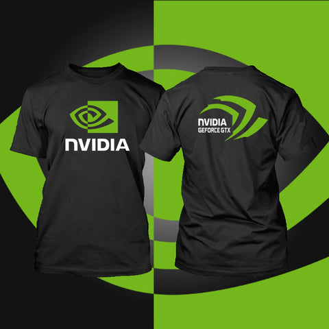 intel Nvidia Men t shirt Geforce GTX