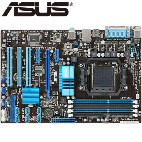 Asus M5A78L LE Desktop Motherboard 760G Socket AM3 AM3+ DDR3 16G For FXPhenom II Athlon II Sempron 100 Original Used Mainboard