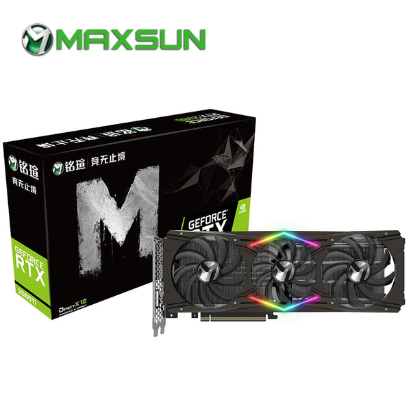 MAXSUN RTX 2080 Ti 11G graphic card 14000MHz 1350MHz 352bit GDDR6 4352unit 12nm PCI Express X16 HDMI+DP+Type-C gaming video card