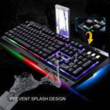 G700 Game Luminous Wired USB Mouse and Keyboard Suit With Rainbow Backlight LED Lights Mechanical Keyboard Gaming Mouse